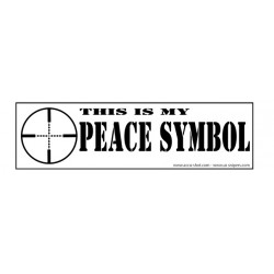 "BT11: ""Peace Symbol"" Bumper Sticker"