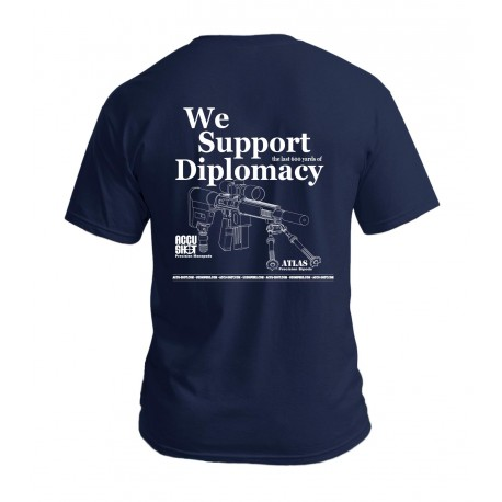 "BT16: ""We Support Diplomacy"" Navy T-Shirt"